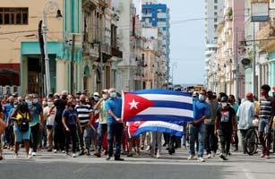 Reacción Internacional junto a los manifestantes en Cuba