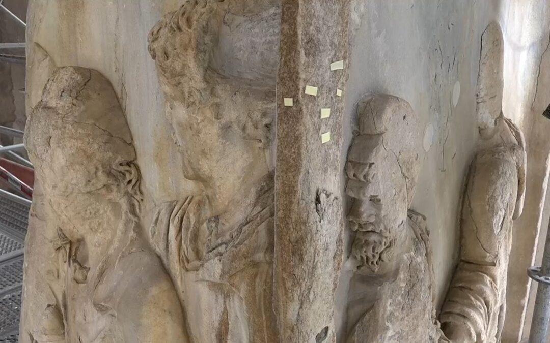 Una técnica de restauración ecológica salva el mármol del Foro Romano